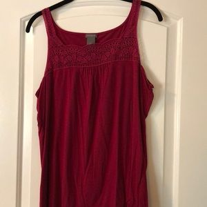 Ann Taylor embroidered tank